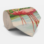 ❤️ Old Florida flamingo necktie
