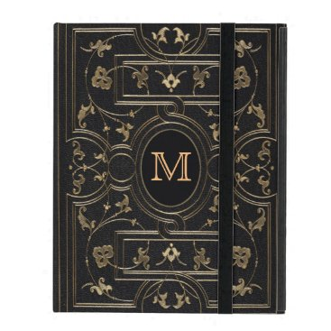 Old Gold Monogram iPad Cover