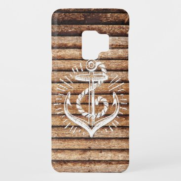 Old Nautical Anchor Wood Case-Mate Samsung Galaxy S9 Case