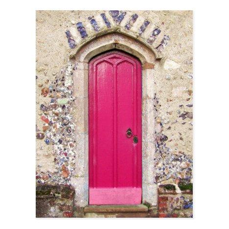 Old Pink Door Postcard