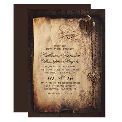 Steampunk Wedding Invitations Retro