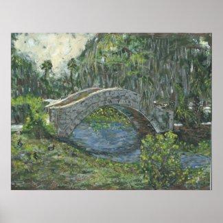 Old Stone Bridge, New Orleans, LA print