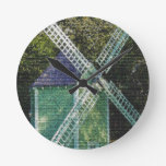 Old Windmill Round Clock