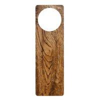 Old wood grain look door knob hanger | Zazzle
