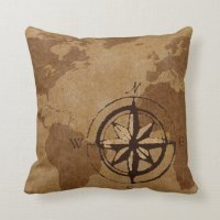 Old World Map Decor Pillow | Zazzle.com