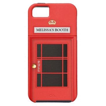 Oldschool British Telephone Booth iPhone SE/5/5s Case