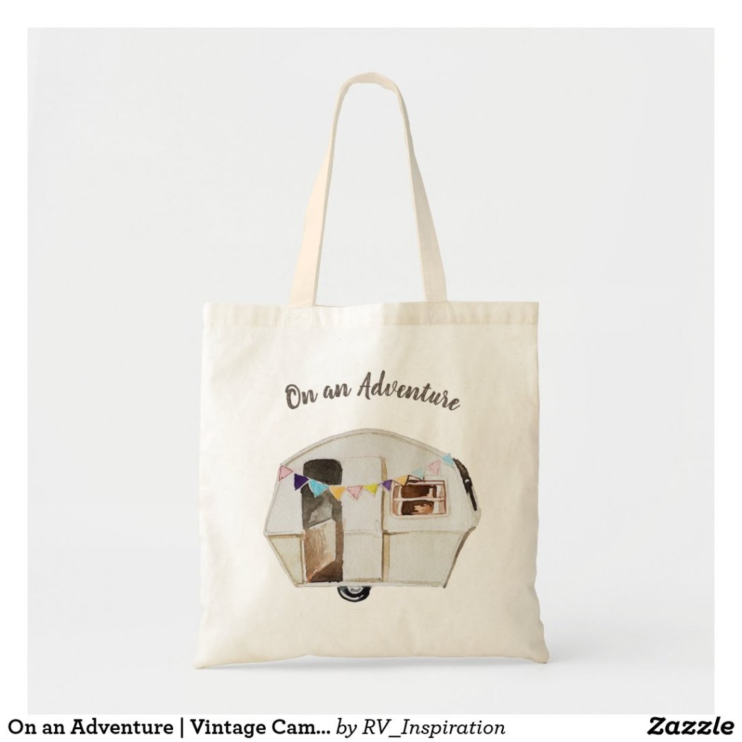On an Adventure | Vintage Camper Tote Bag