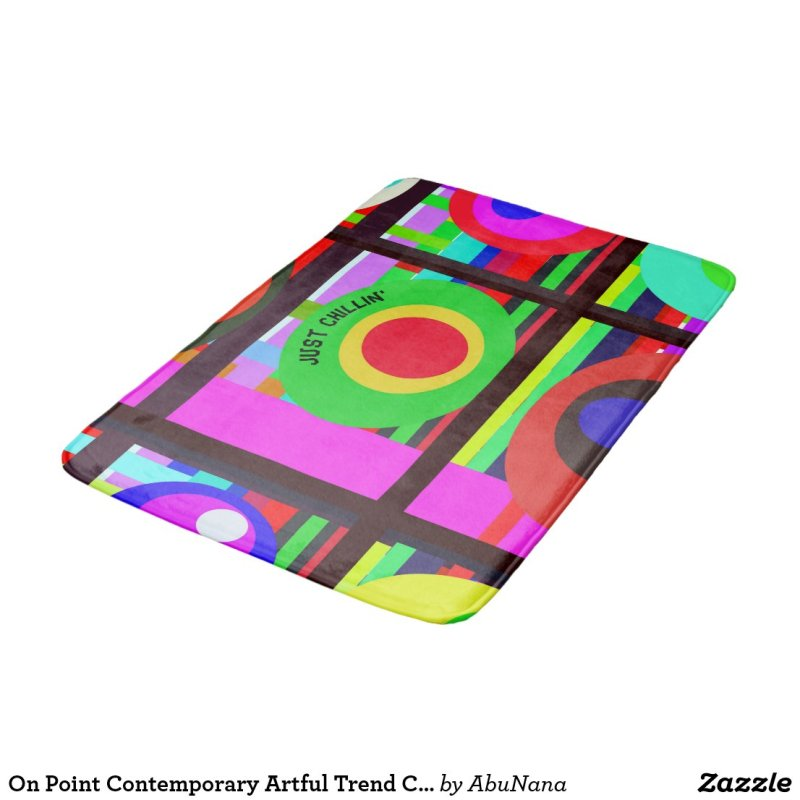 On Point Contemporary Artful Trend Circles Bath Mat