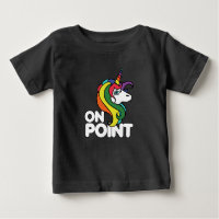 On Point retro rainbow unicorn Baby T-Shirt