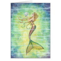 One Bubble Mermaid Greeting Card