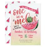 ❤️ One in a Melon Watermelon First Birthday Invite