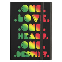 ONE LOVE, ONE HEART, ONE DESTINY iPad FOLIO CASE
