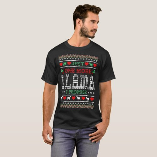 One More Llama I Promise Christmas Ugly Sweater
