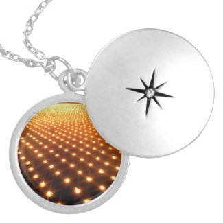 One thousand candles round pendant necklace