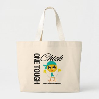 One Tough Chick Ovarian Cancer Warrior bag