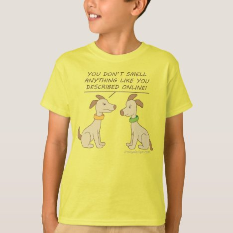 Online Dating Dog Cartoon Humor T-Shirt
