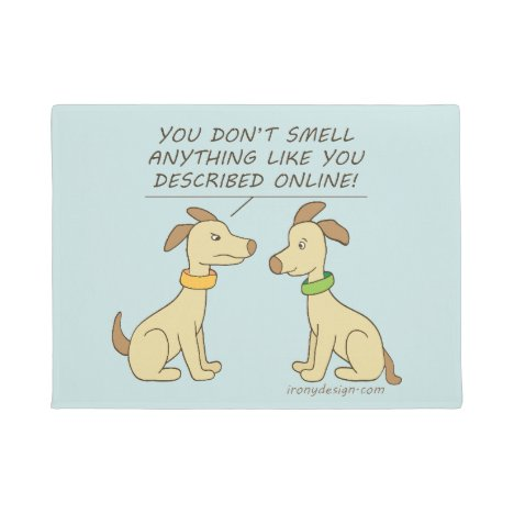 Online Dating Dog Humor Doormat