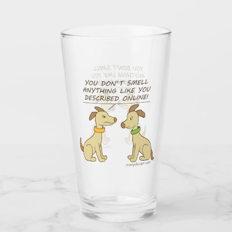 Online Dating Dog Humor Glass