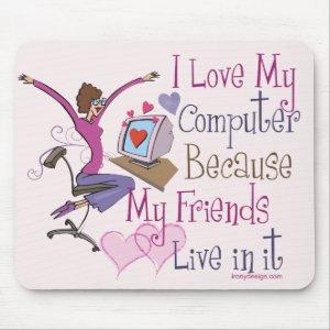 Online Friends Mouse Pad