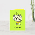 ❤️ Cute Cat Forgot To Say Thank You Card