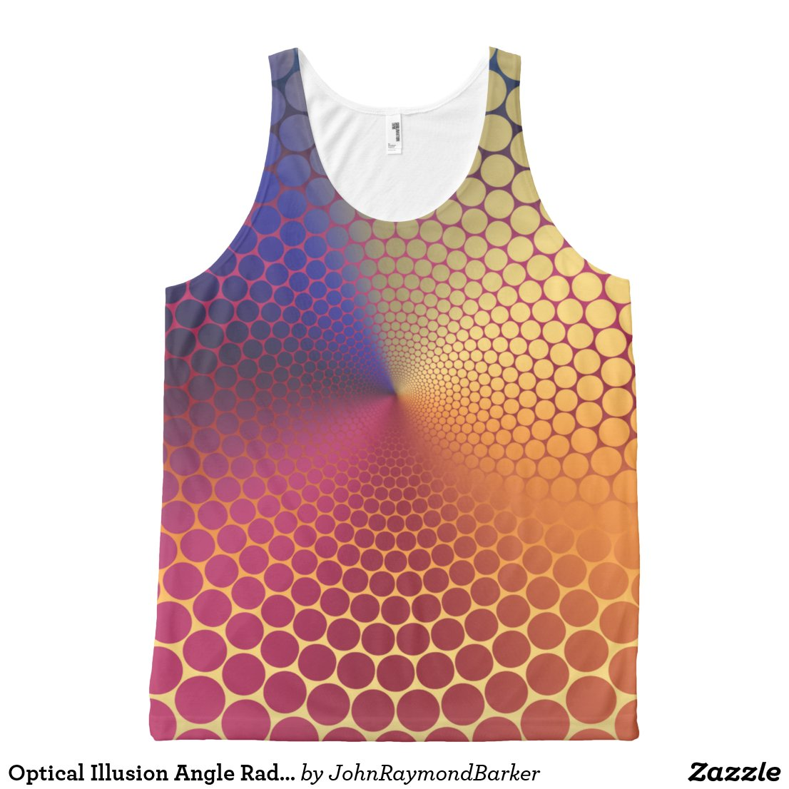 Optical Illusion Angle Radiant Gradient All-Over-Print Tank Top