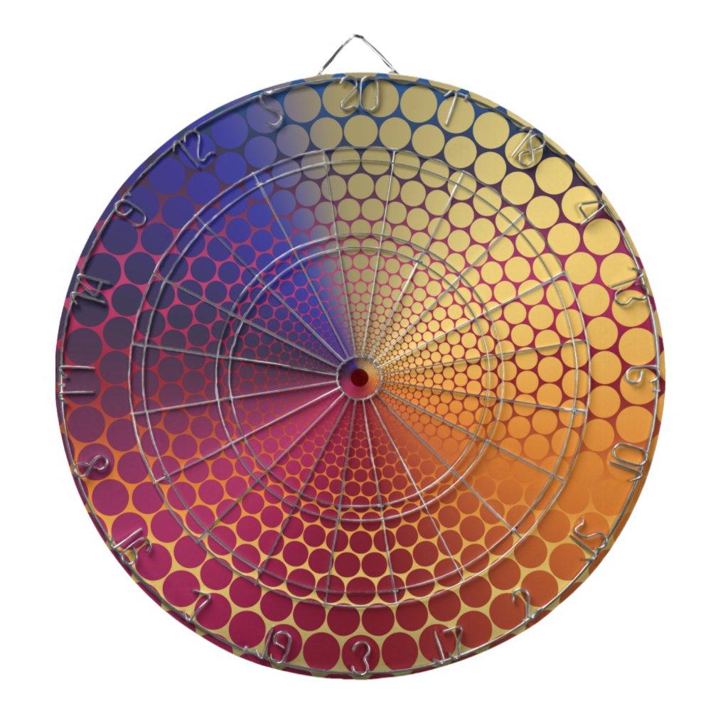 Optical Illusion Angle Radiant Gradient Dart Board