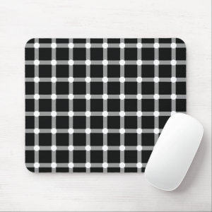 Optical Illusion Design Disappearing Black Dots Mouse Pad