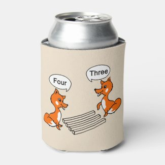 Optical illusion Trick Fox Can Cooler