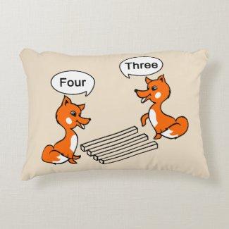 Optical illusion Trick Fox Decorative Pillow