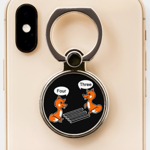 Optical illusion Trick Fox Phone Ring Stand