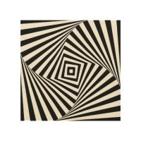 Optical Illusion Wood Wall Art
