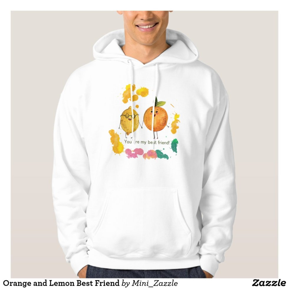 Orange and Lemon Best Friend Hoodie