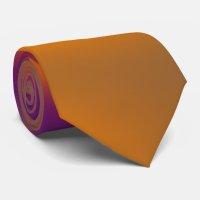 orange and purple tie