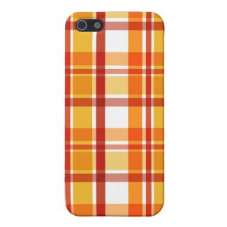 Orange brown plaid - iPhone case Covers For iPhone 5