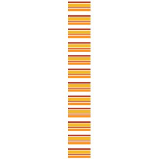 Orange brown stripes - Tie tie