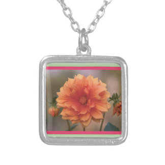 Orange Dahlia Custom Necklace