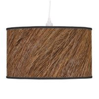 Orange Fur Ceiling Lamp