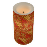Orange Gold Zigzag Abstract Flameless Candle
