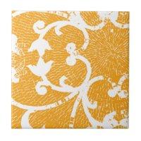 Orange Mosaic Ceramic Tiles | Zazzle