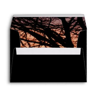 Orange Sunset Envelope envelope