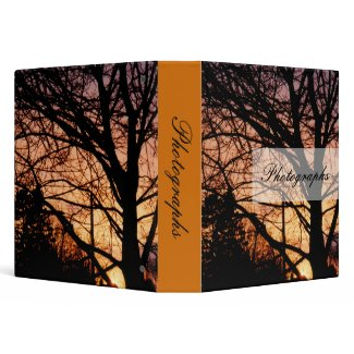 Orange Sunset Photo Binder binder