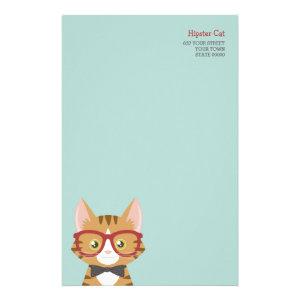 Orange Tabby Hipster Cat Kids Stationery