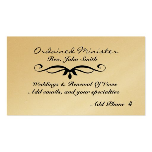 Ordained minister business cards colourmoves