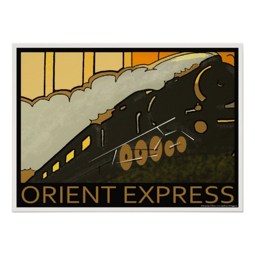 Orient Express Railway Classic Poster Print Zazzle