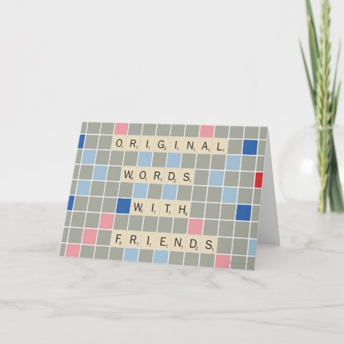 Original Words With Friends Card