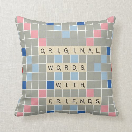 Original Words With Friends Throw Pillow