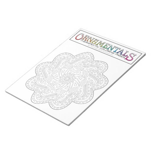 OrnaMENTALs Catch the Wave Coloring Page #0010 Note Pad