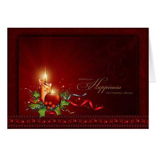 Ornate Elegant Personalized Christmas Card Zazzle