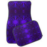 Ornate purple blue abstract floor mat