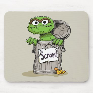 Oscar the Grouch Scram Mouse Pad